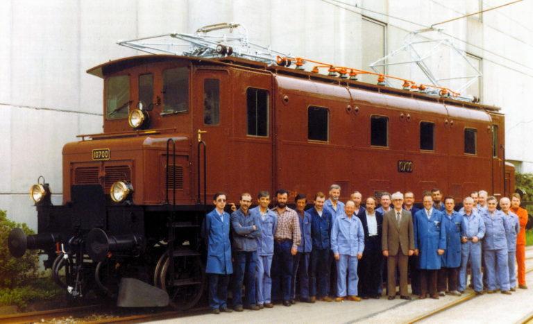 La 10700 après sa préparation pour devenir une locomotive historique